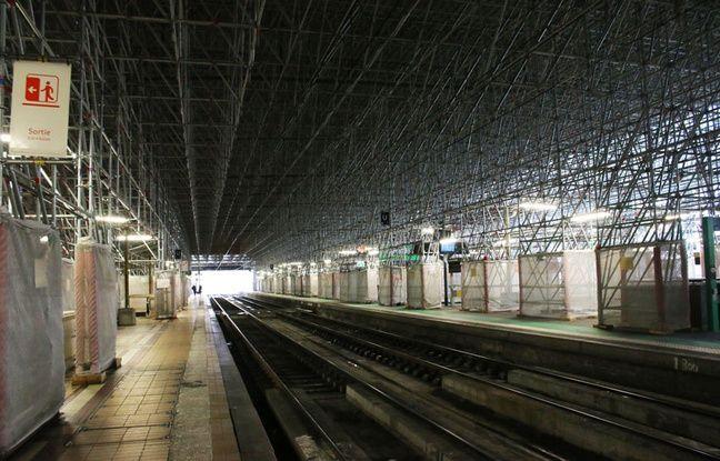 Les échafaudages de la gare Saint-Jean à Bordeaux doivent être entièrement retirés d'ici à juin 2017