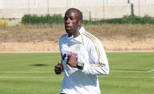 Souleymane Diawara à l'entrainement à la Commanderie (photo archives).