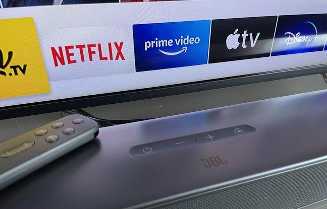La barre de son Bar 5.1 Surround de JBL à placer devant son téléviseur ou à accrocher au mur.