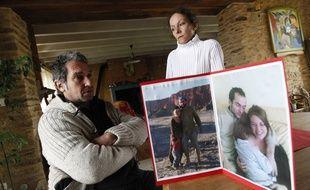 NORT SUR ERDRE, le 20/04/2013 Patrick BELLANGER, le pere de Jeremy disparu en Bolivie avant son depart pour le proces des suspects
