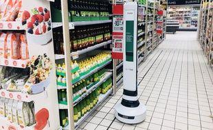Simbe, le robot autonome de Géant Casino.