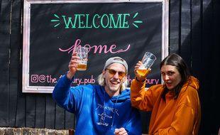Le Finsbury Pub, à Hackney, au nord de Londres, le 12 avril 2021.