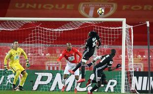 Monaco-Lyon en 16e de finale de Coupe de France, le 24 janvier 2018 à Louis-II.