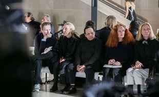 Azzedine Alaia au défilé Vuitton à Paris le 7 mars 2017