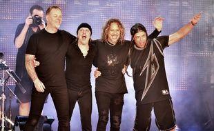 Metallica en concert à San Francisco, en février 2016.
