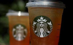 Des gobelets Starbucks aux Etats-Unis.