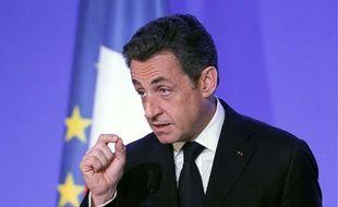 Nicolas Sarkozy à Paris, le 18 mars 2011
