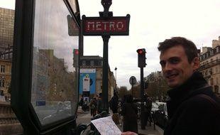 Guillaume Martinetti, ingénieur, passionné par l'Opend Data et les transports, a mis au point une carte bien utile du métro de Paris.