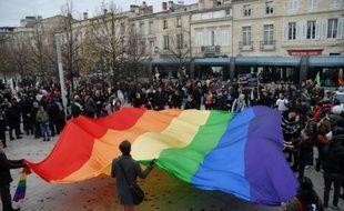 Une manifestation pro-mariage pour tous à Bordeaux le 8 décembre 2012