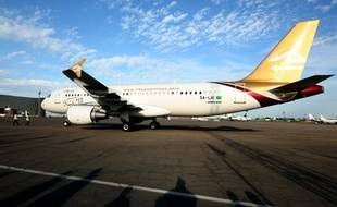Un avion de la Libyan airlines.