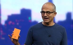 Le patron de Microsoft, Satya Nadella, à la conférence Build, le 2 avril 2014.