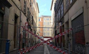 Le bout de la rue Jean Roque est toujours inaccessible pour les habitants.