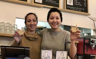 Kanyaman, entendante (à gauche) et Imane, sourde, ont monté leur propre restaurant à Nantes.