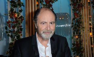 Michel Delpech Lors de l'enregistrement des Grands du Rire , presente par Yves Lecoq en avril 2014.