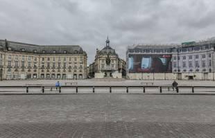 Place de la Bourse, à Bordeaux, le 17 mars 2020.