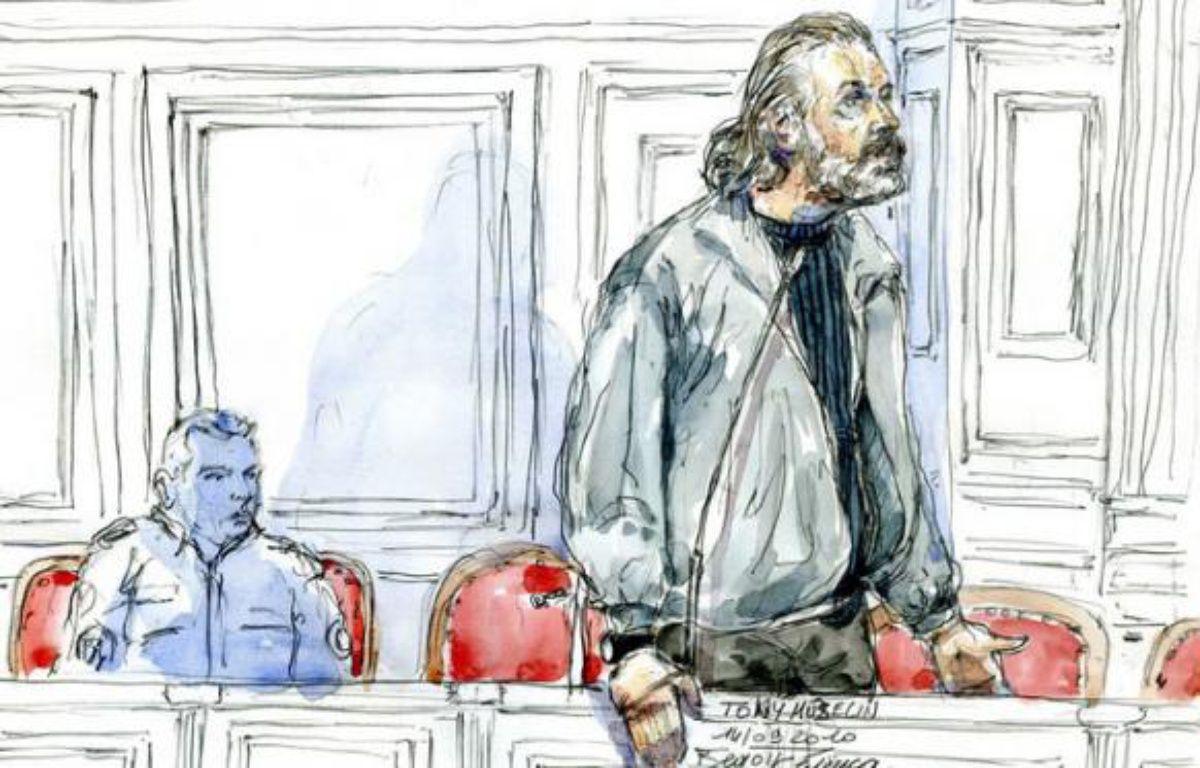 Esquisse de Toni Musulin lors de son procès en appel le 14 septembre 2010 àLyon. – AFP/BENOIT PEYRUCQ