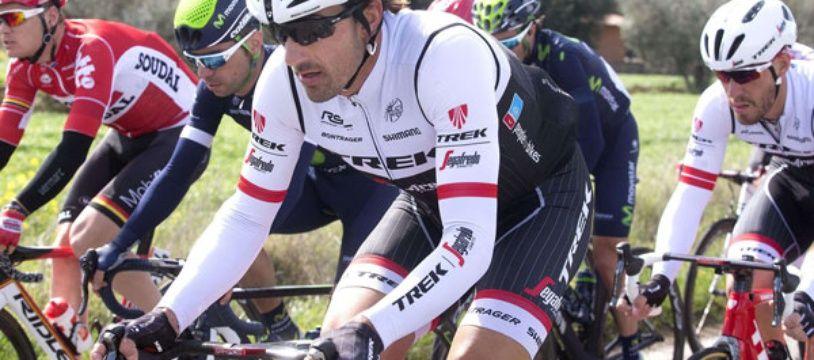 Fabian Cancellara sur les routes du Tirreno, en mars 2016.