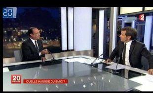 François Hollande au 20 heures de France 2
