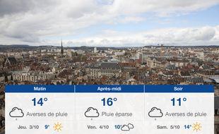Météo Dijon: Prévisions du mercredi 2 octobre 2019