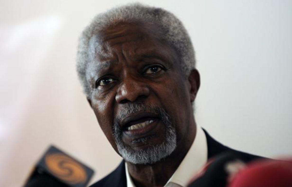 L'émissaire de l'ONU, Kofi Annan, lors d'une visite en Turquie, le 10 avril 2012. – STRINGER TURKEY / REUTERS