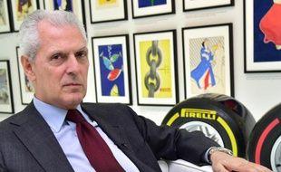 Le PDG de Pirelli, Marco Tronchetti Provera, le 25 mars 2015 au siège social à Milan