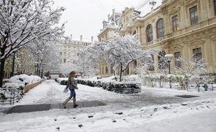 Lyon a été très touchée hier par les chutes de neige et les températures basses.