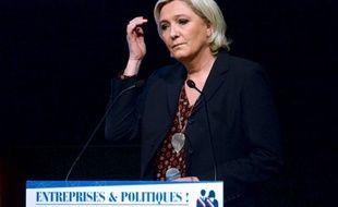 Marine Le Pen, le 28 mars 2017 devant le Medef.