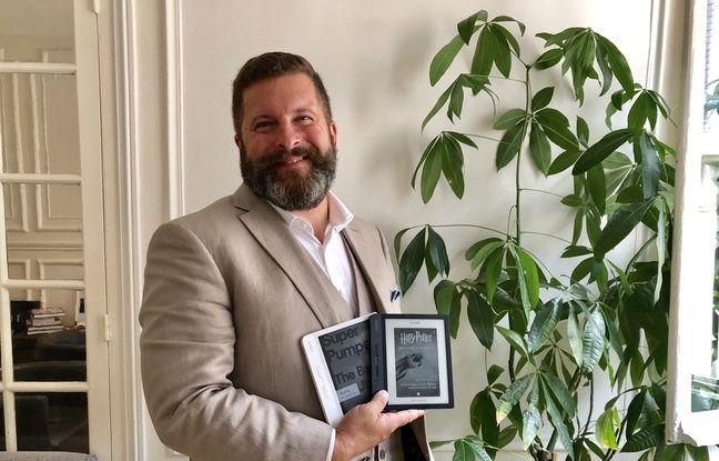 Michael Tamblym, le PDG de Kobo, de passage à Paris pour présenter la liseuse Libra H2O.