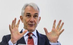 Tony Tyler, chef de l'association internationale du transport aérien (IATA), le 10 décembre 2014 à Genève