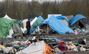 Le camp de migrants de Grande-Synthe dans le Nord le 8 mars 2016