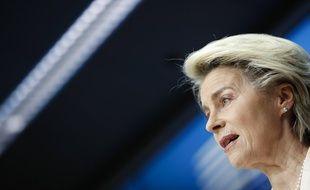 La présidente de la Commission, Ursula von der Leyen, ici le 25 juin, a mis en garde la Hongrie après sa loi discriminatoire à l'endroit des personnes LGBTQ.