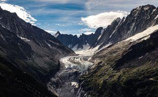 Dans les Alpes, au cours des deux dernières décennies, les glaciers - ici celui d'Argentière - ont perdu un tiers de leur volume.