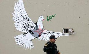 Une oeuvre de Banksy en Cisjordanie.