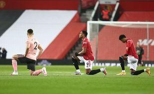 Anthony Martial a été victimes d'insultes racistes sur les réseaux sociaux après la défaite contre Sheffield, le 28 janvier 2021.