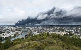 Incendie à Rouen.