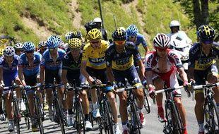 Le maillot jaune Christopher Froome dans la deuxième étape pyrénenne le 7 juillet 2013.