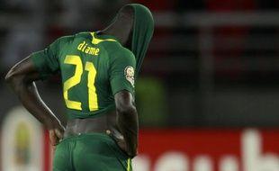 Le Sénégalais Mohamed Diame lors de la défaite de son équipe à la Coupe d'Afrique des Nations, le 29 janvier 2012 à Bata contre la Libye.