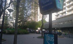 Une des nouvelles stations de bus de la ligne 45 Concorde-Aubervilliers. Samedi 20 avril, Ile-de-France Mobilités lance son nouveau plan bus.