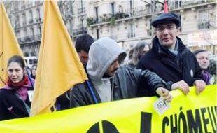 Manifestation de chômeurs en 2008.