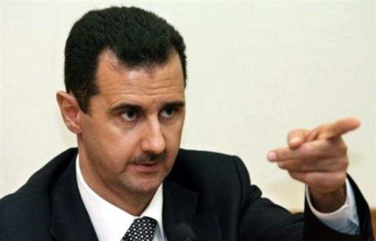 L'éventuelle venue du président syrien Bachar al-Assad, dénoncé notamment par les Etats-Unis et Israël comme soutenant le terrorisme, suscite déjà la polémique dans les rangs de l'opposition en France et de la majorité au Liban. – Yuri Kadobnov AFP/archives
