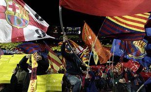 Le public du Camp Nou avant le match historique face à Milan, le 12 mars 2013 à Barcelone.