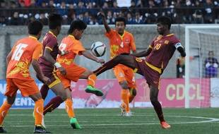 Le match de qualification à la Coupe du monde 2018 entre le Bhoutan et le Sri Lanka, le 17 mars 2015, à Thimphu.