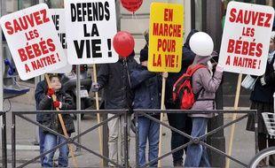 Des personnes brandissent des pancartes lors de la 7e édition