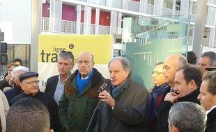 Alain Juppé et Noël Mamère présents pour l'inauguration de l'extension de la ligne C du tram sur Bègles.