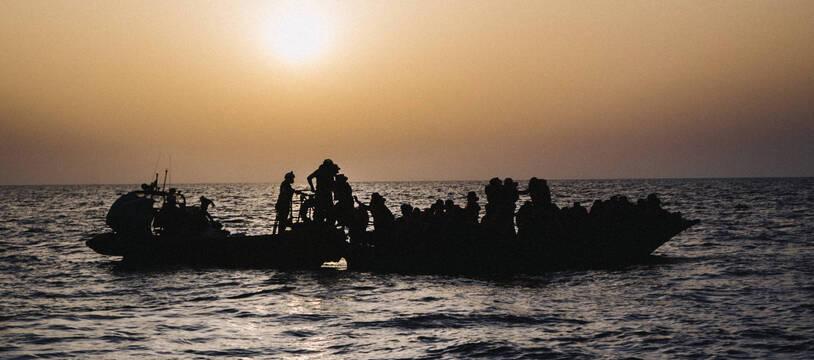 67 migrants ont été évacués d'un bateau en perdition, le 4 juillet 2021, près de Malte.