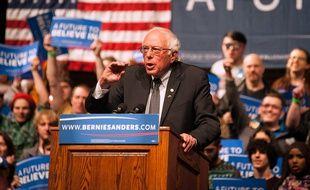 Bernie Sanders lors d'un meeting à Laramie (Wyoming), le 5 avril 2016.