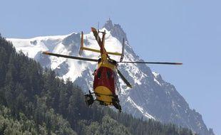 Chamonix, le 12 juillet 2012.Plusieurs personnes sont mortes dans le massif du Mont Blanc