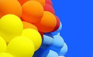 Des ballons de baudruche.