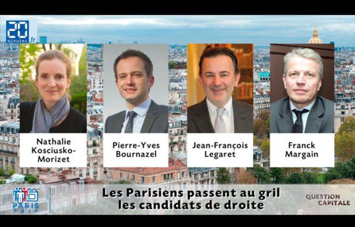 Les quatre candidats à la primaire UMP répondent en vidéo aux questions des Parisiens. – DR