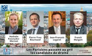 Les quatre candidats à la primaire UMP répondent en vidéo aux questions des Parisiens.